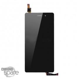 Ecran LCD + Vitre Tactile Noire + Chassis Huawei Ascend P8 Lite