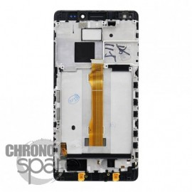 Ecran LCD & Vitre Tactile noire + chassis Huawei Mate S