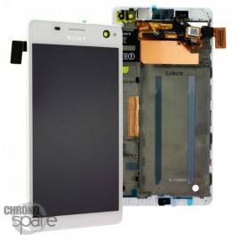 Ecran LCD et Vitre tactile Blanche Sony Xperia C4 (officiel) A/8CS-59160-0002