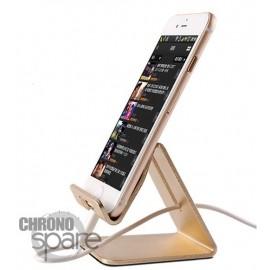 Support aluminium Or smartphone/tablette