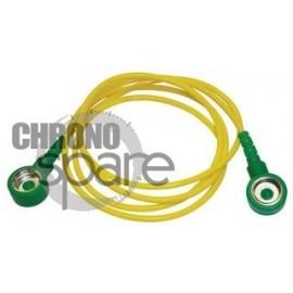 Cordon de mise à la terre jaune/vert 1m 1Mohm