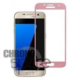 Vitre de protection Samsung Galaxy S7 Or rose