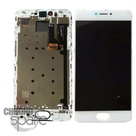 Ecran LCD + Vitre tactile blanche + frame Meizu Pro 6