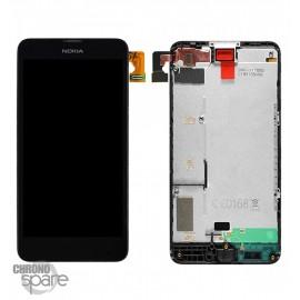 LCD + Vitre tactile + chassis Nokia Lumia 630 Noir (officiel) 00812Q0