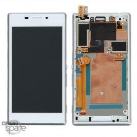 Ecran LCD + Vitre tactile blanche + châssis Sony Xperia M2 Aqua (officiel) 78P7550001N