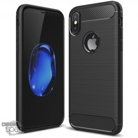 Coque souple carbone iphone X - Noir