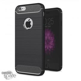 Coque souple carbone iphone 6 plus - Noir