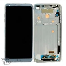Bloc écran LCD et Vitre Tactile gris LG G6 H870 (Officiel)