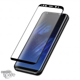 Film de protection incurvé 3D en verre trempé Noir Samsung Galaxy S8 avec boîte