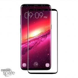 Film de protection incurvé 3D en verre trempé Noir Samsung Galaxy S9 avec boîte (PREMIUM)