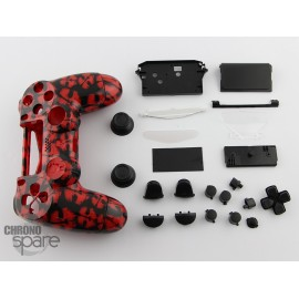 Coque complète avec boutons manette PS4 - Red Ghost