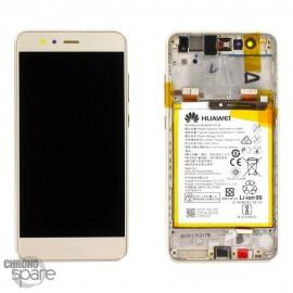 Bloc écran LCD + vitre tactile + batterie Huawei P10 Lite Or (officiel)