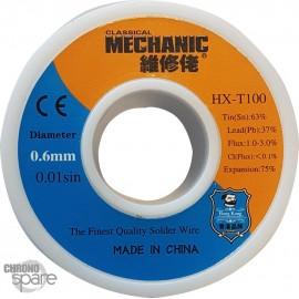 Etain fin bobine 0.6 mm 50g