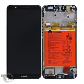 Bloc écran LCD + vitre tactile + batterie Huawei P Smart Noir (officiel)