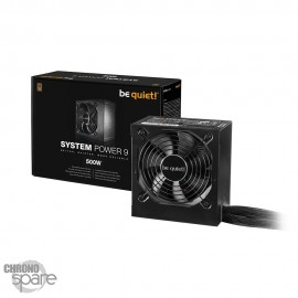 Alimentation 500W be quiet! System Power 9 80+