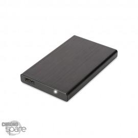 Boitier externe pour disque dur 2.5 pouces (9,5mm) SATA USB 3.0 Noir