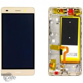 Bloc écran LCD + vitre tactile + batterie Huawei P8 Lite Or (officiel)